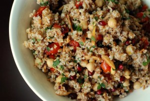 Bulgur Salad with Chickpeas, Pomegranate Ariels an…ndive Spear).