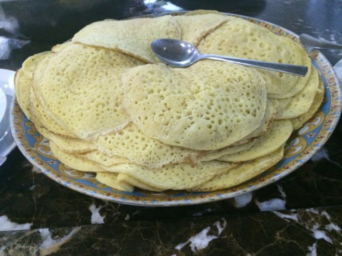 Beghrir - small, spongy Berber pancakes made with semolina or flou
