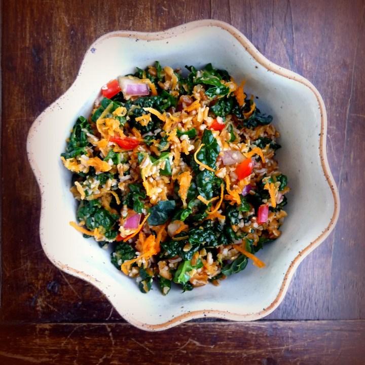 Kale, Bulgur and Carrot Salad