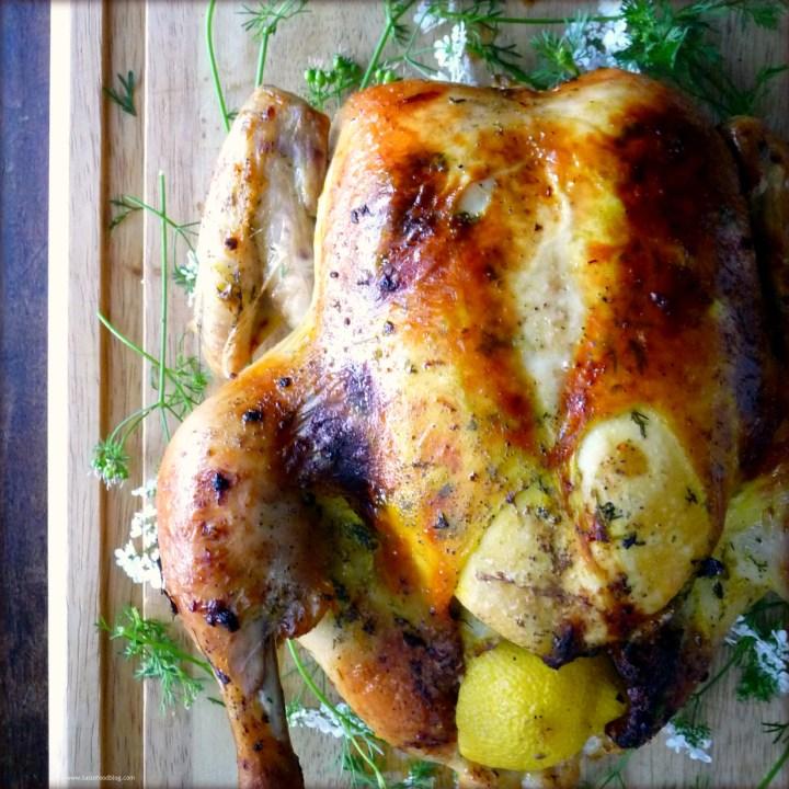 Roasted Lemon Cilantro Chicken