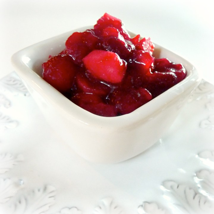 Tequila-Spiked Cranberry, Apple and Jalapeño Relish