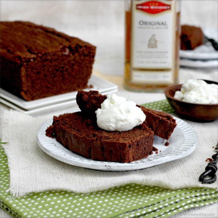 Chocolate Stout Pound Cake with Whiskey Cream