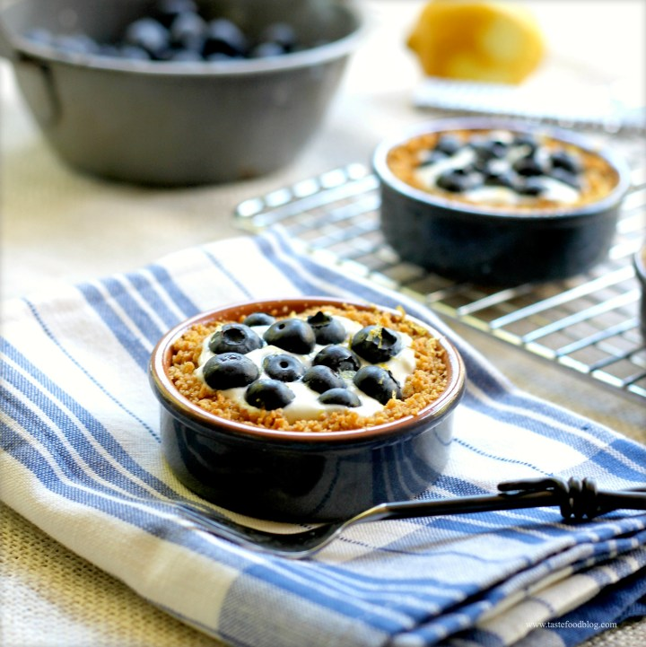 Blueberry Tartlets with Yogurt and Lemon