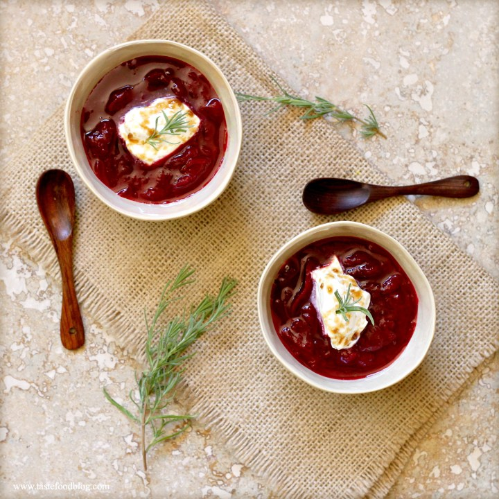 Plum Compote with Rosemary