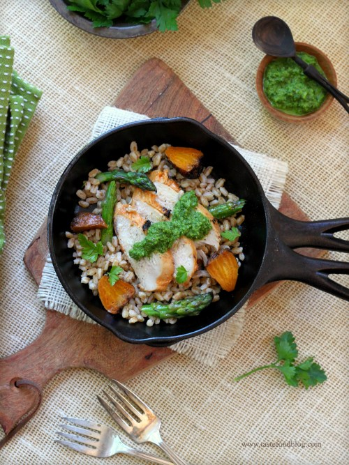 chicken farro beets tastefood