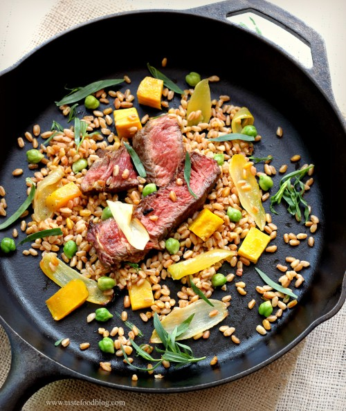 steak farro tastefood