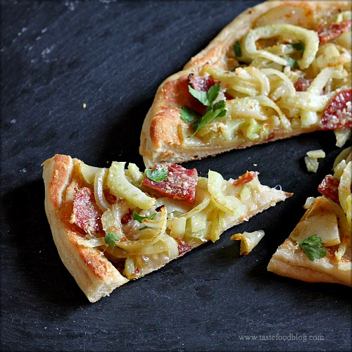 fennel pizza slice tastefood