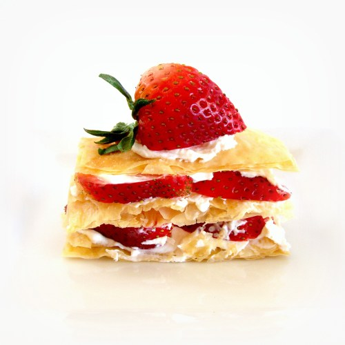 Strawberry Napoleon  stack