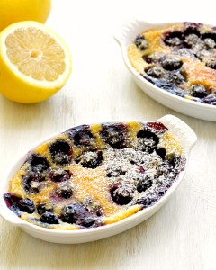 Black and Blueberry Clafoutis
