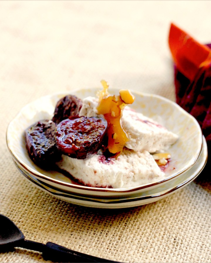 Light and Luscious Semifreddo with Orange and Almonds