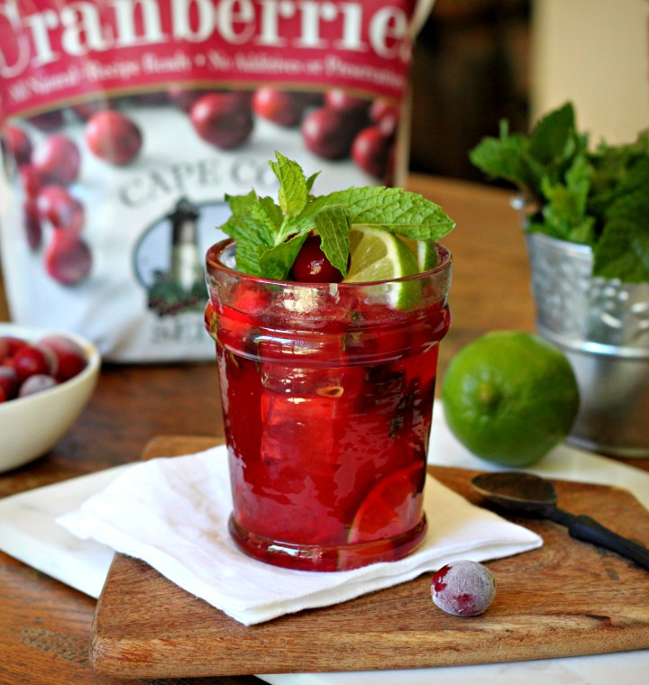 Cranberry Bourbon Lime Cocktail