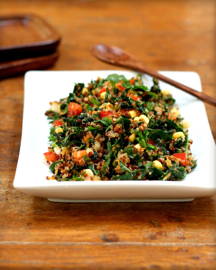 Kale Quinoa Tabbouleh Salad
