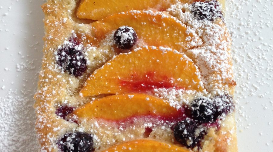 Blueberry Peach Galette with Frangipane Filling