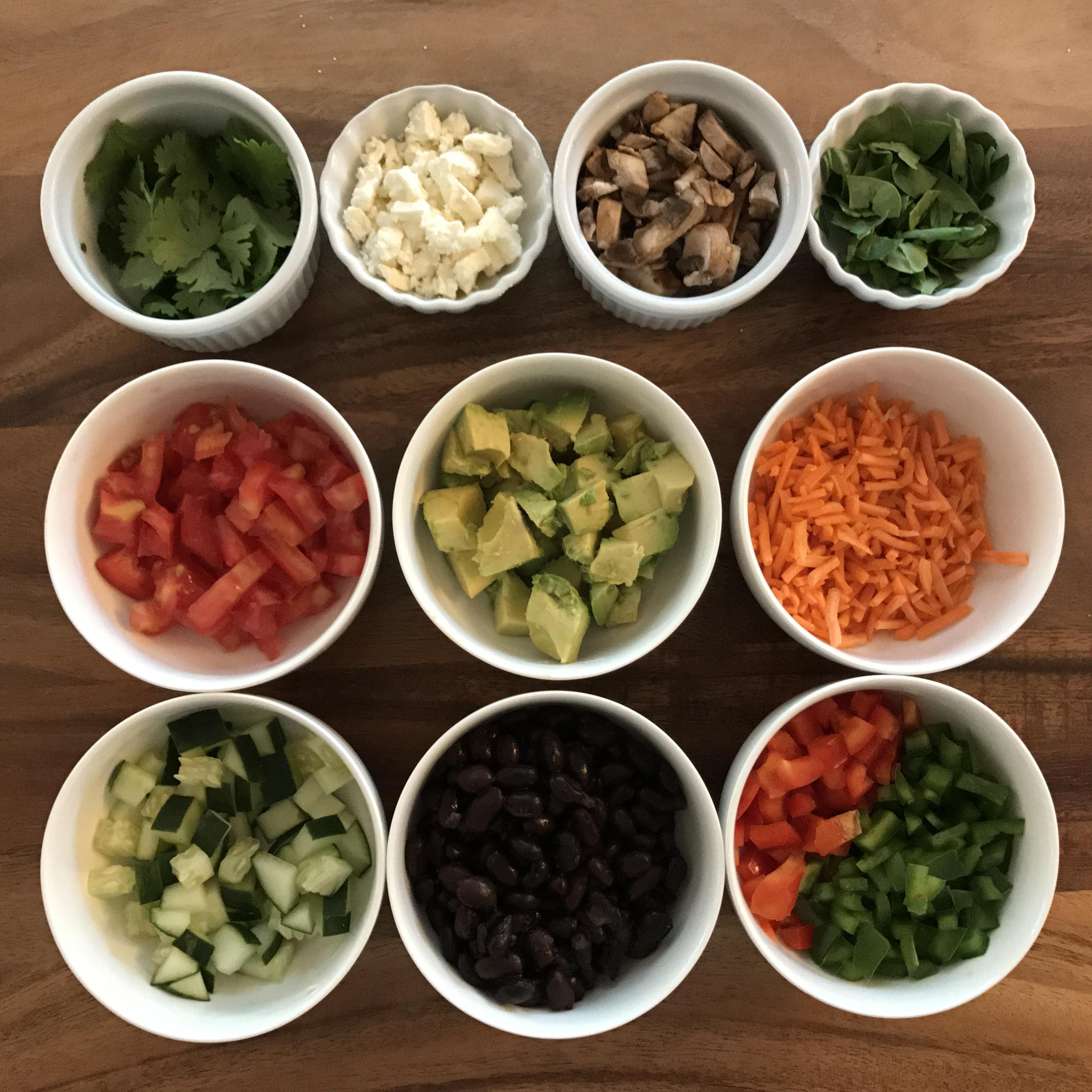 Veggie Rice Power Bowl with Curry Vinaigrette