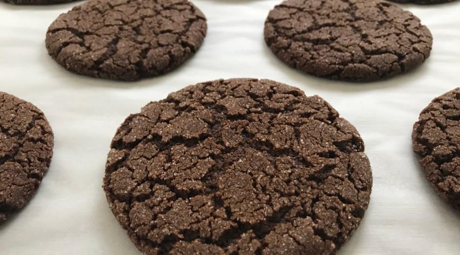 Chocolate Espresso Crackle Cookies