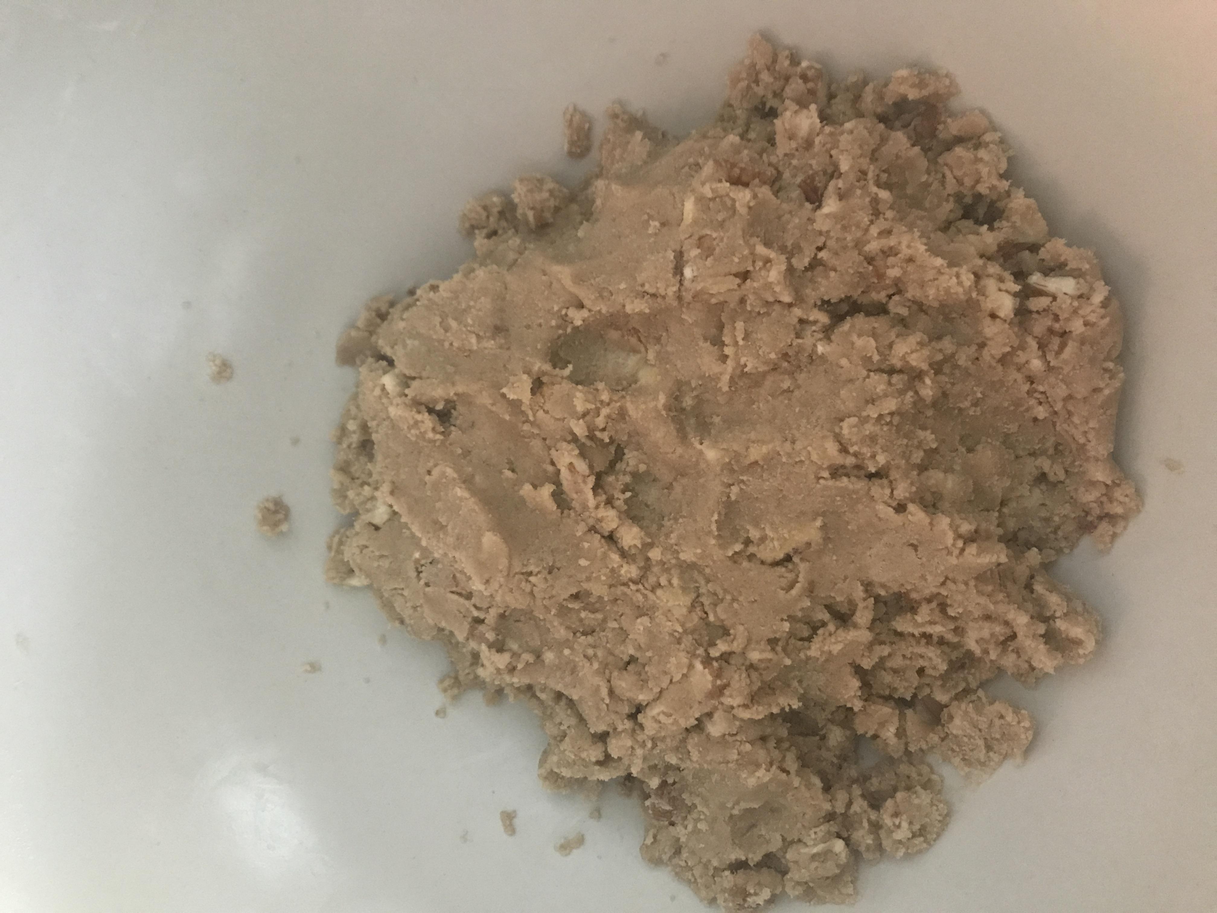 Combining ingredients for shortbread cookies