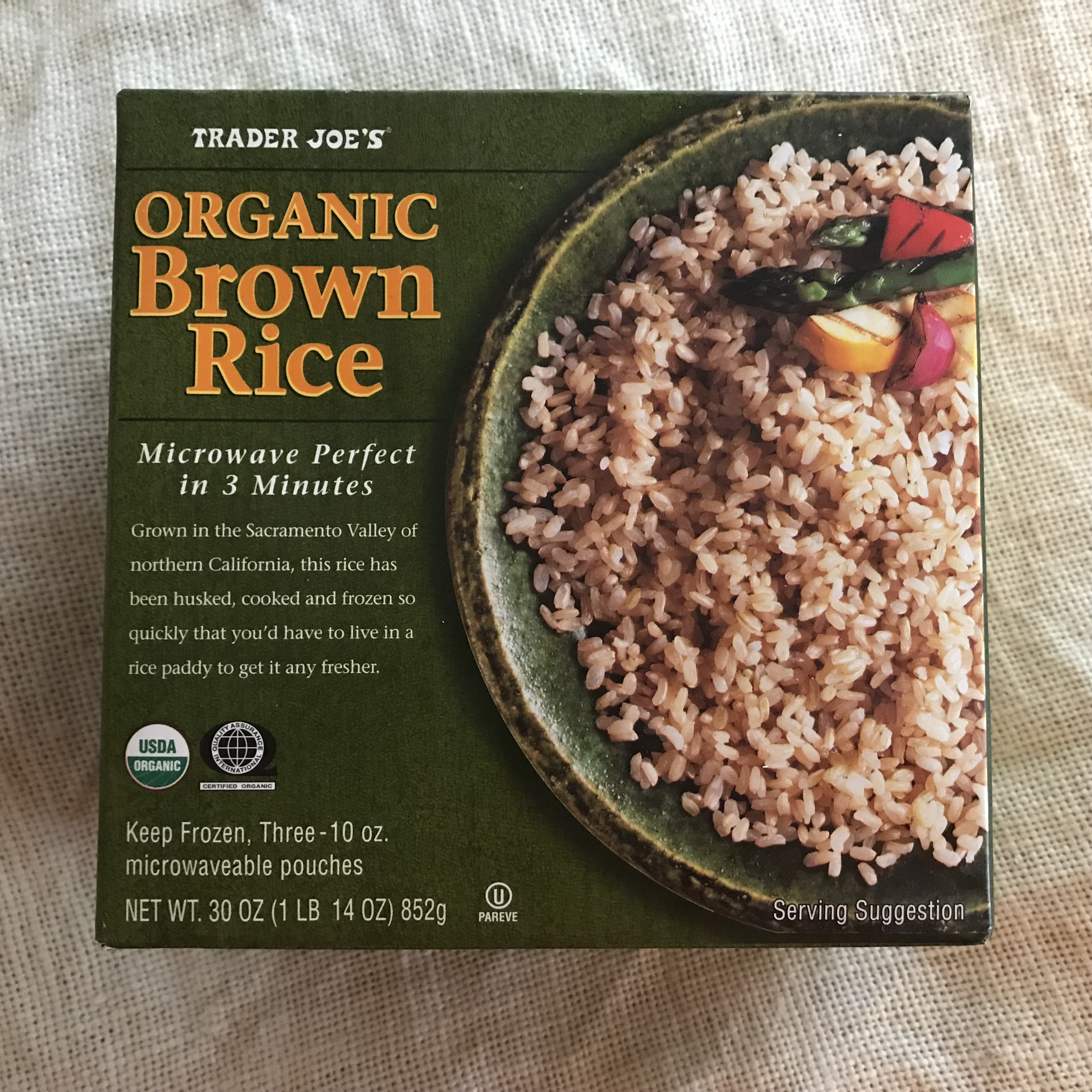 Trader Joe's Frozen Organic Brown Rice