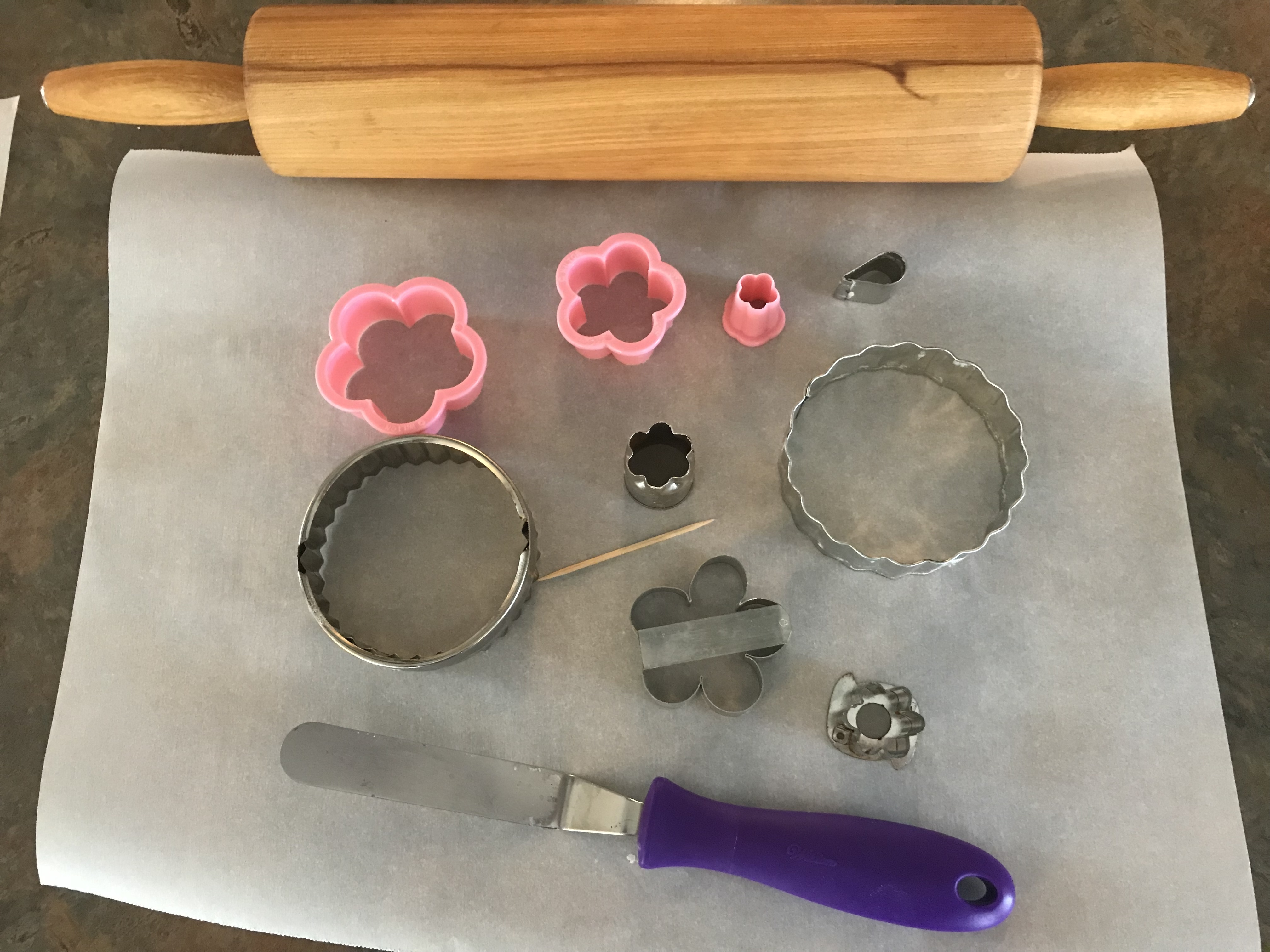Tools for for Sparkling Flower Sugar Cookies