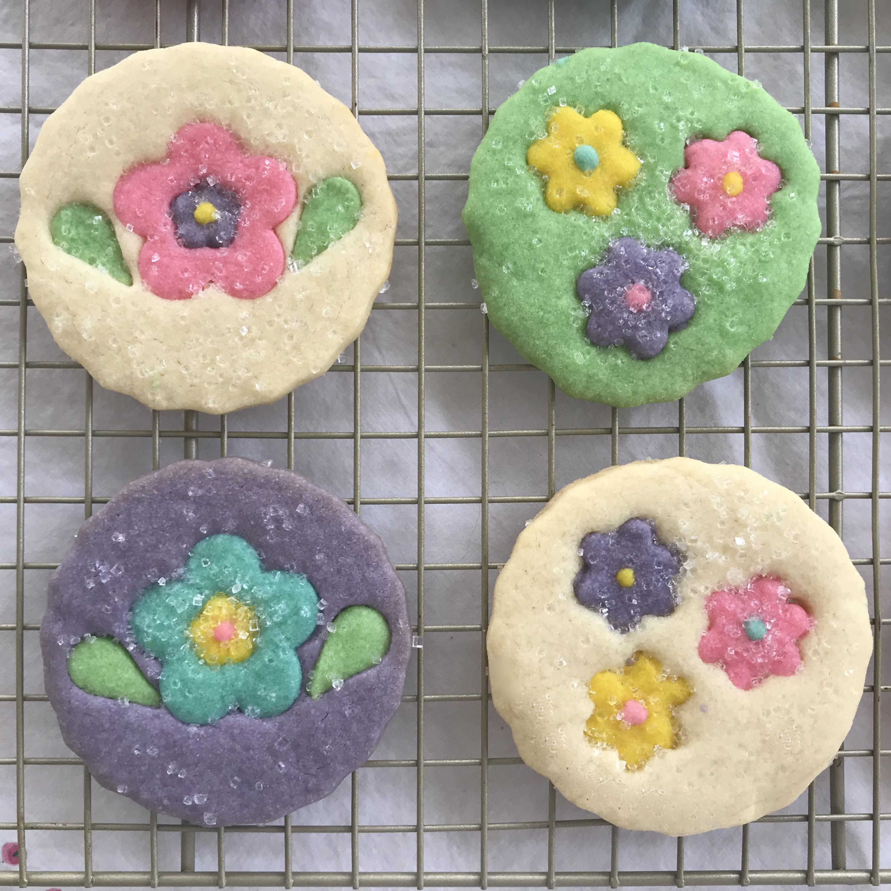 Sparkling Flower Sugar Cookies
