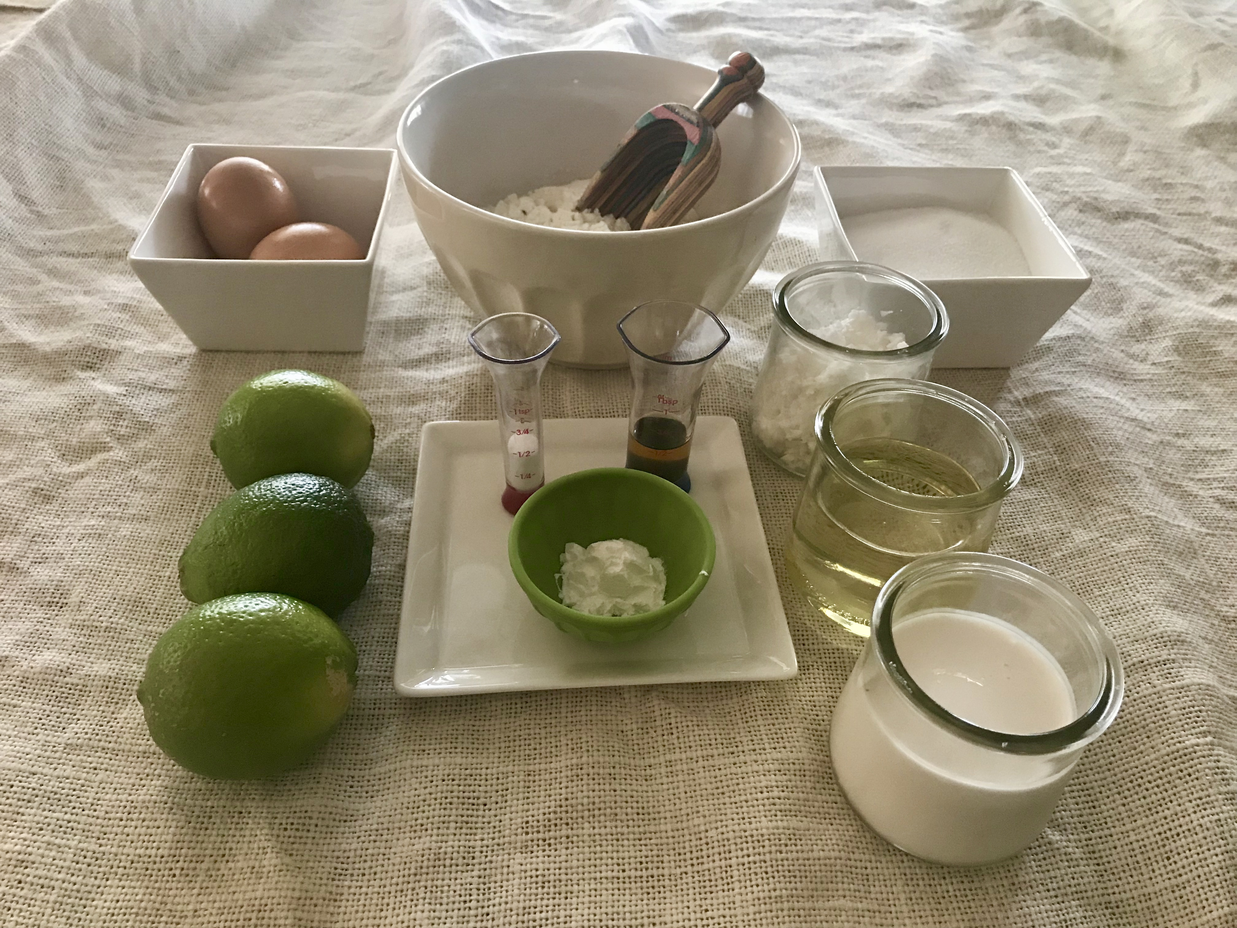 Ingredients for Lime in the Coconut Loaf Cake