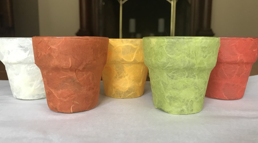 Layered Tissue Paper Votive Holders