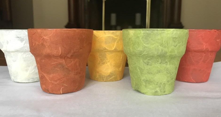 Layered Tissue Paper Votive Holders