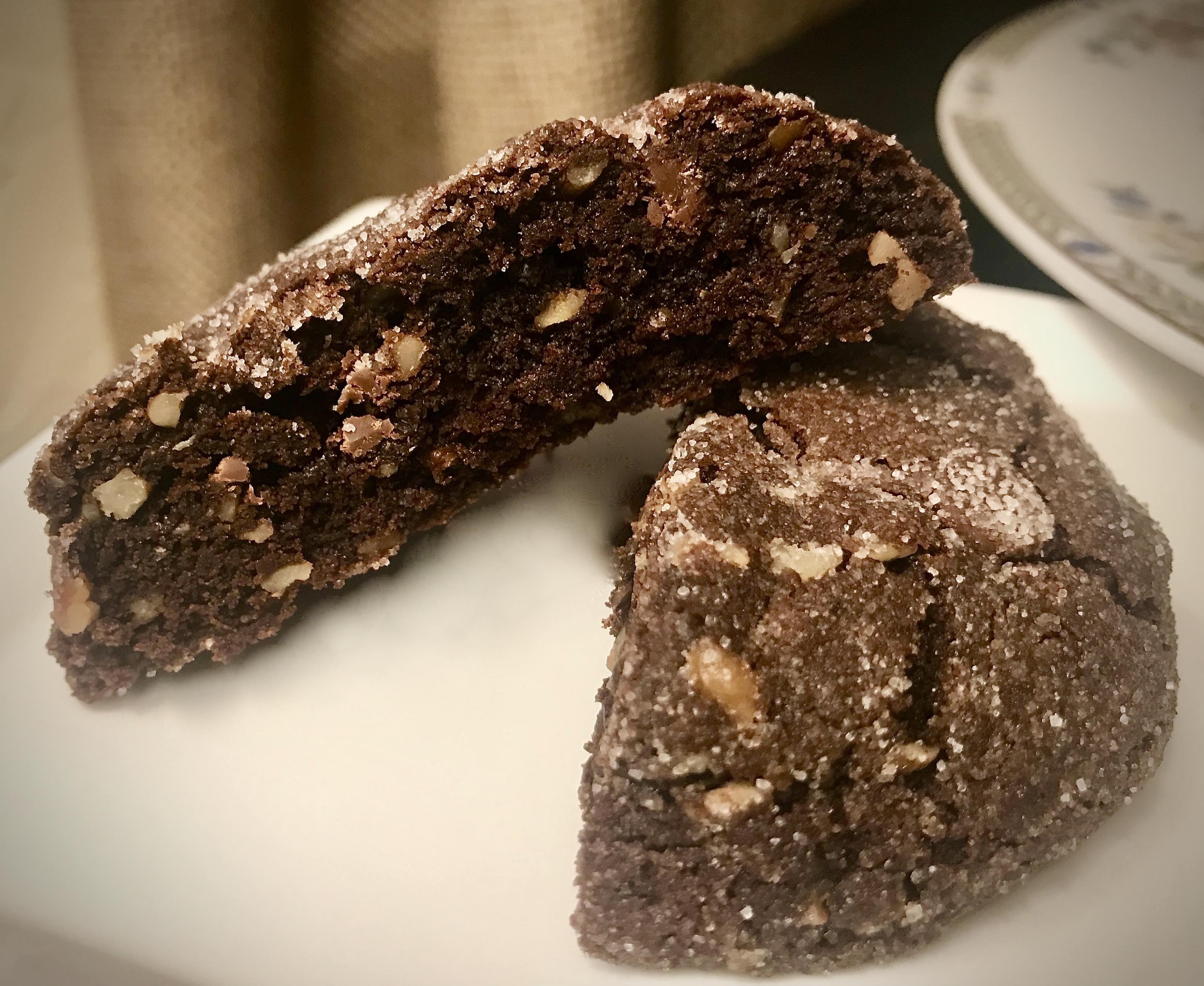 A close up of Seriously Chocolate Cookies