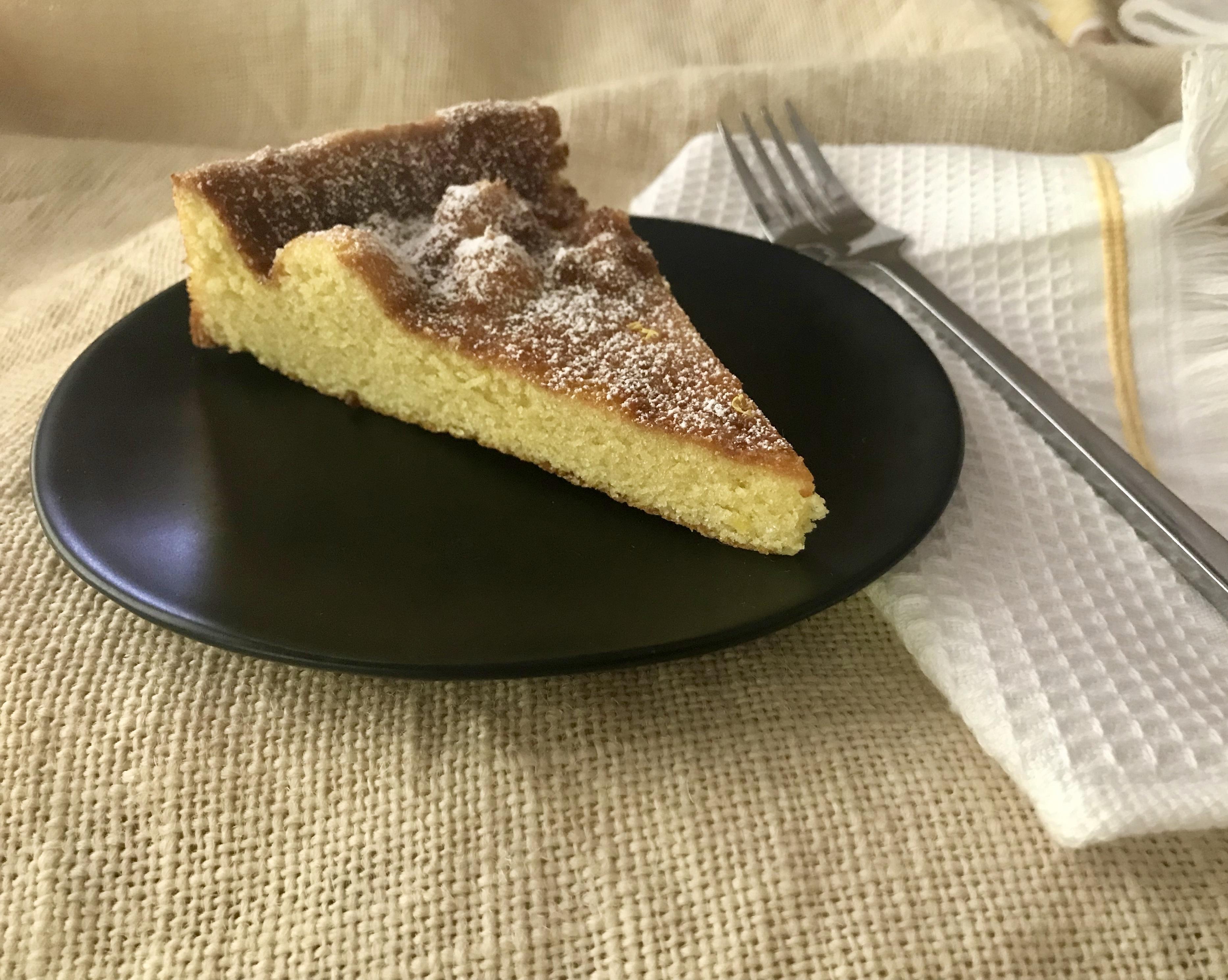 Tarta de Santiago on a plate