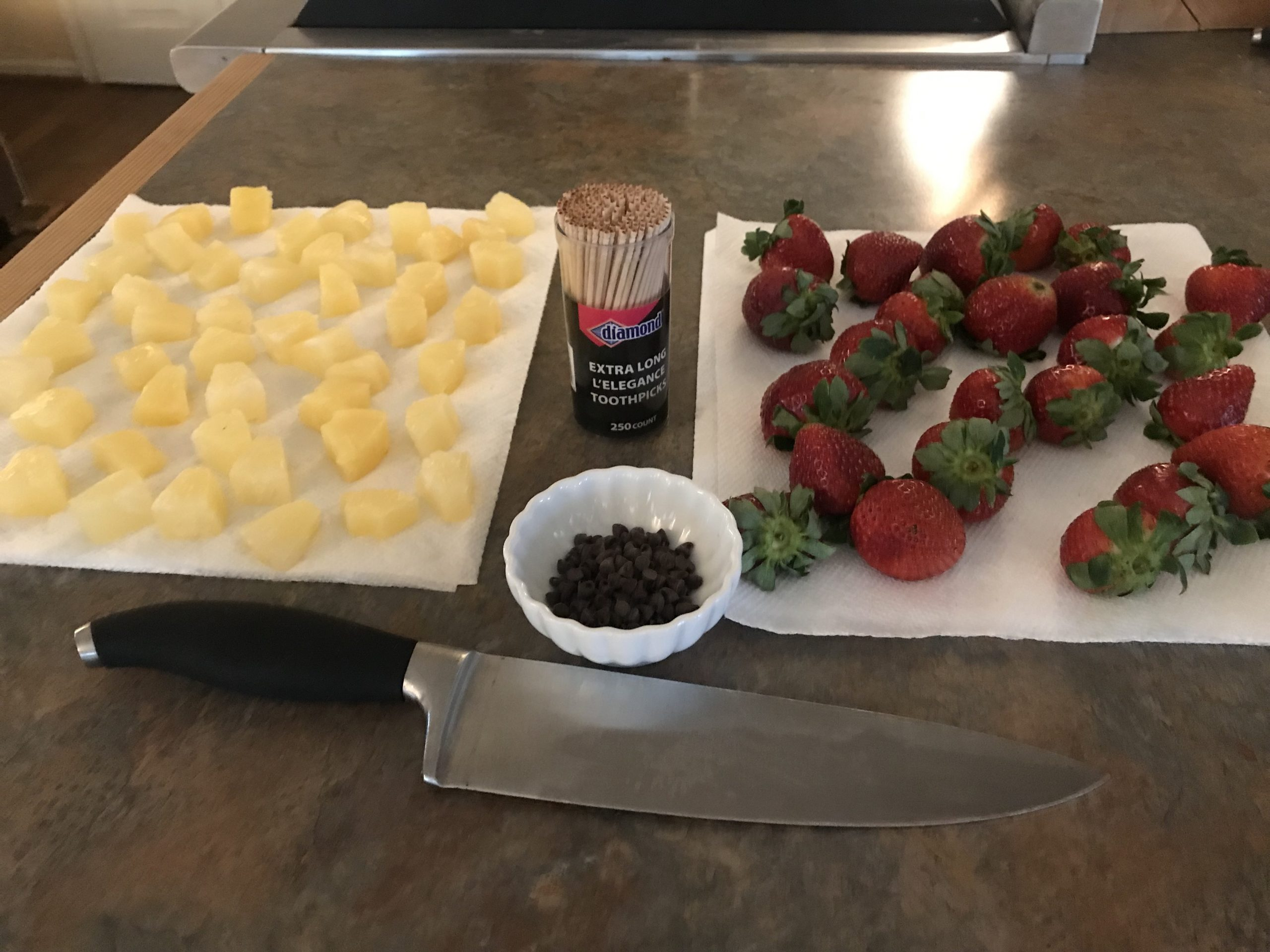 Ingredients for Strawberry Cream Cheese Santas