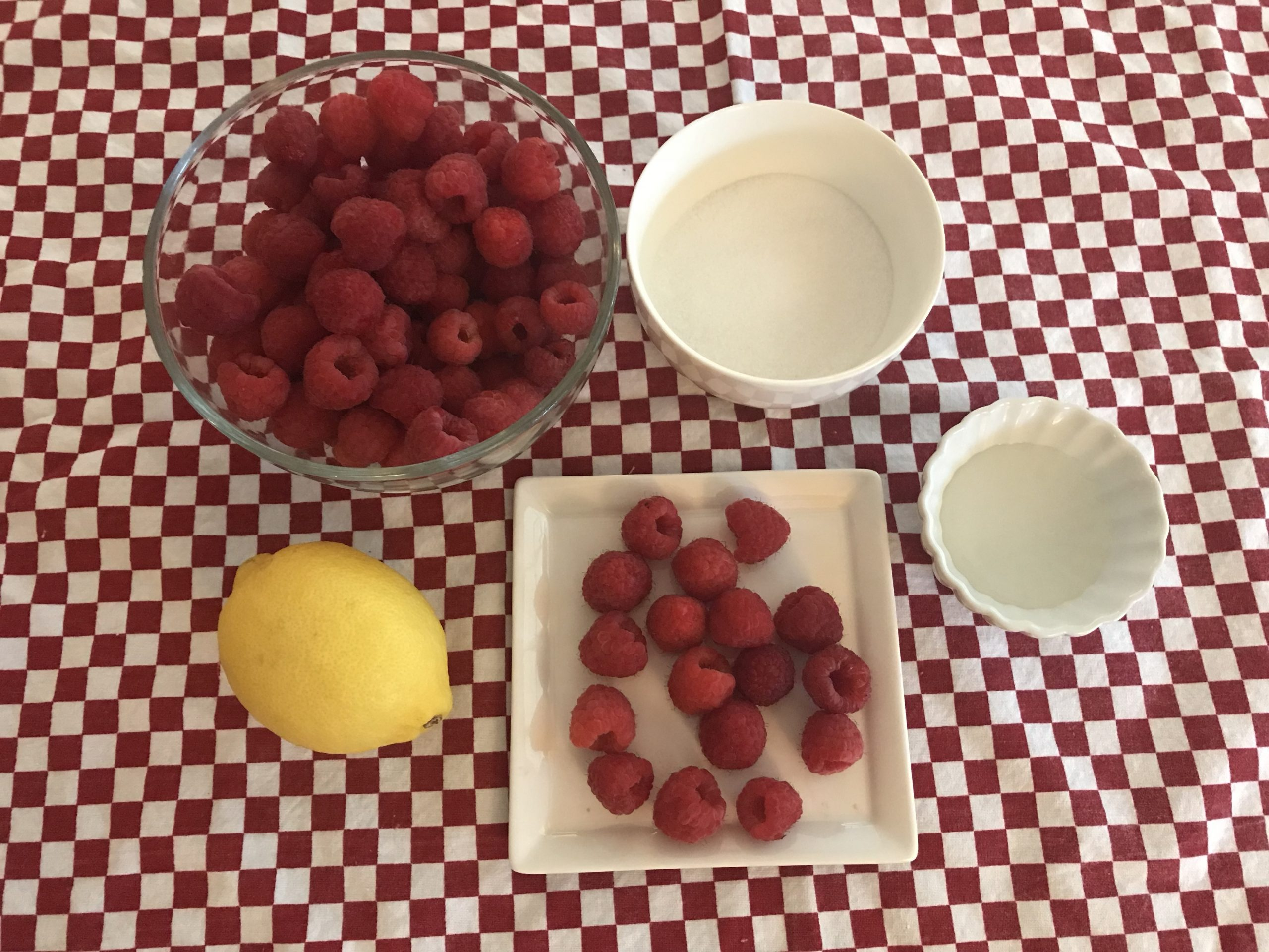 Ingredients for Raspberry Coulis