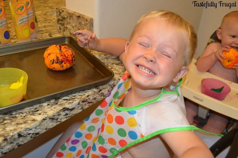 How To Carve A Pumpkin With A Toddler. No Tears Involved