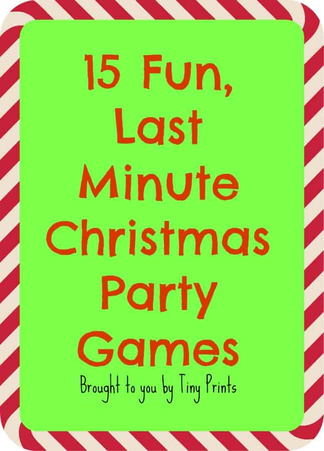 Fun, Last Minute Christmas Party Games