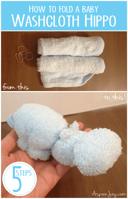 How To Make A Hippo Out Of A Wash Cloth