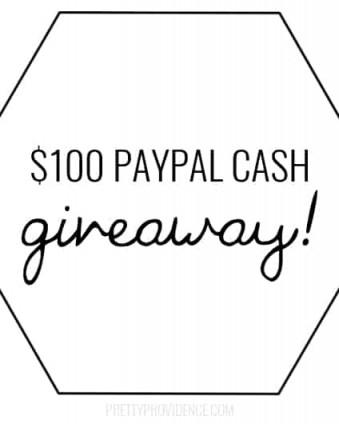 $100 PayPal Cash Giveaway www.tastefullyfrugal.org