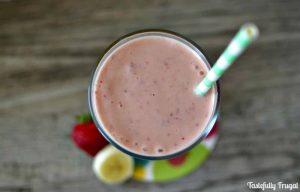 Strawberry Banana Protein Smoothie www.tastefullyfrugal.org