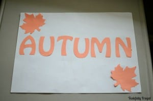 See how I turned my fall craft fail into a cute piece of art made by my kids.