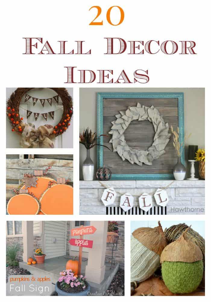 20 Fall Decor Ideas www.tastefullyfrugal.org