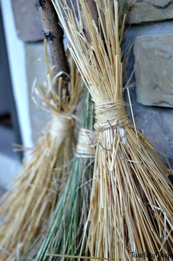 DIY Witches Brooms | Tastefully Frugal's 13 Frightfully Fun Days of Halloween