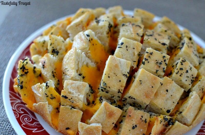 Easy Cheesy Party Bread  Tastefully Frugal