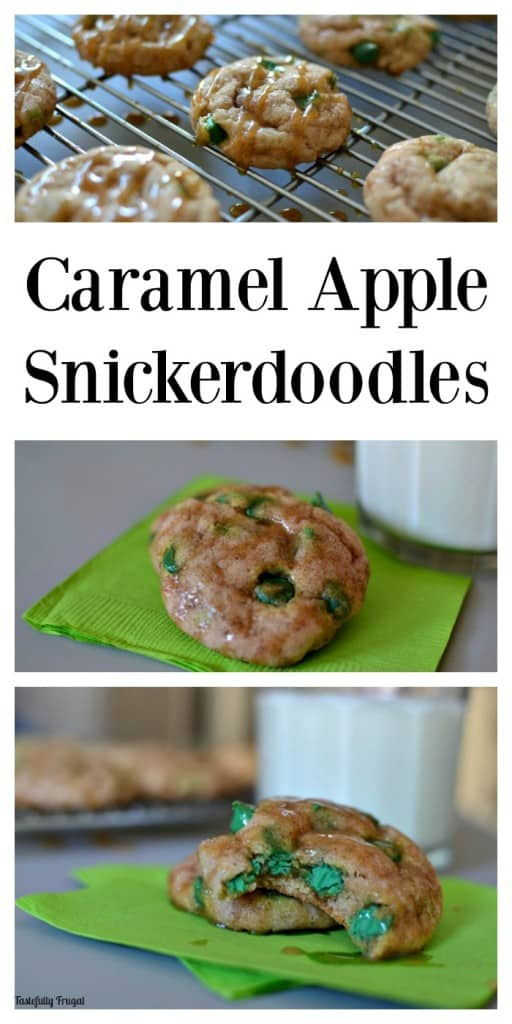Caramel Apple Snickerdoodles: Soft and Sweet Apple Snickerdoodles drizzled with gooey caramel sauce | Tastefully Frugal ad #NestleHolidayBaking @verybestbaking