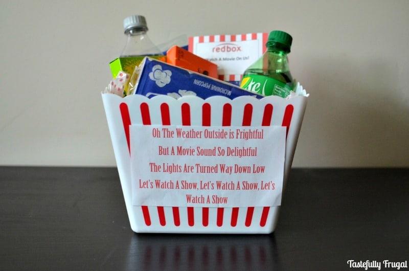 Movie Night Neighbor Gift Idea Tastefully Frugal
