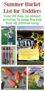 Summer Bucket List For Toddlers: Over 120 Free (or Almost Free) Activities To Keep The Kids Busy All Summer Long | Tastefully Frugal