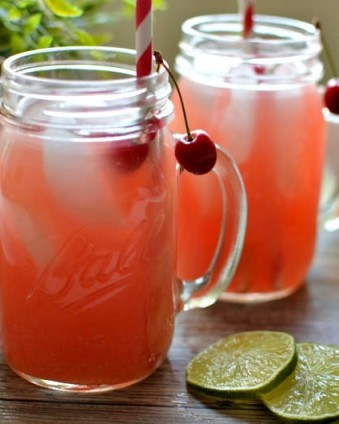Fresh Cherry Limeade: This sweet limeade is the perfect way to cool down on a hot summer day and doesn't require any grenadine   Tastefully Frugal
