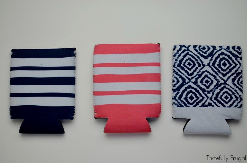 DIY Road Trip Can Koozies: Keep your drinks cool and hip with this 5 minute craft   Tastefully Frugal AD #ShareTheLyrics
