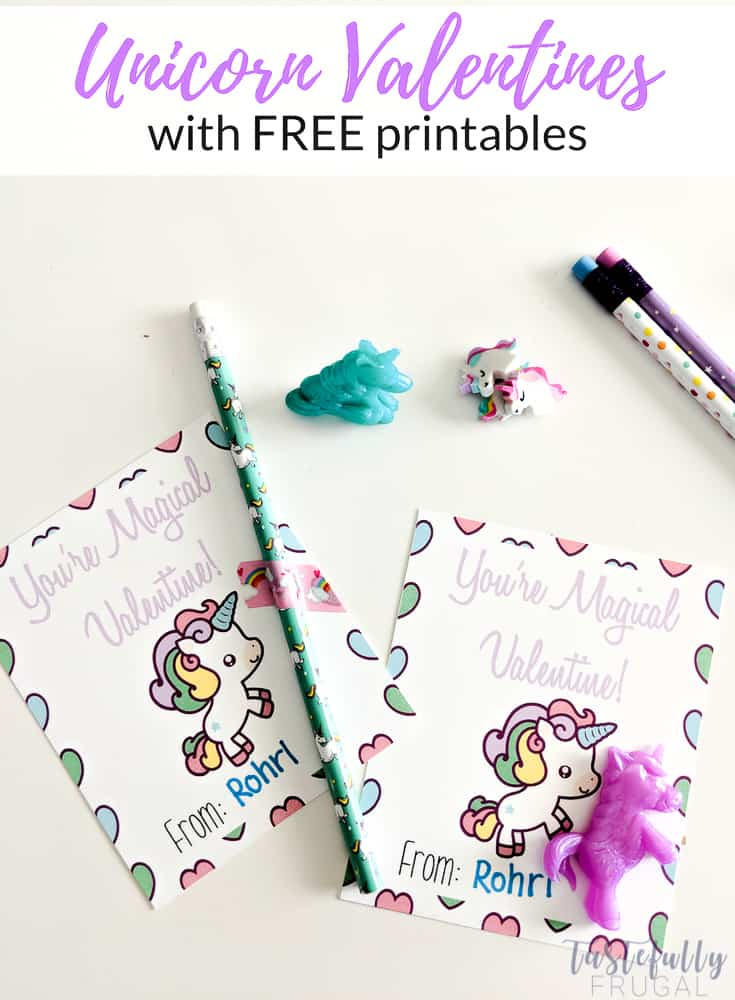 These unicorn valentines are sure to be a hit and you can get the goodies all from the Target Dollar Spot. Print your FREE Valentines Cards on this post.