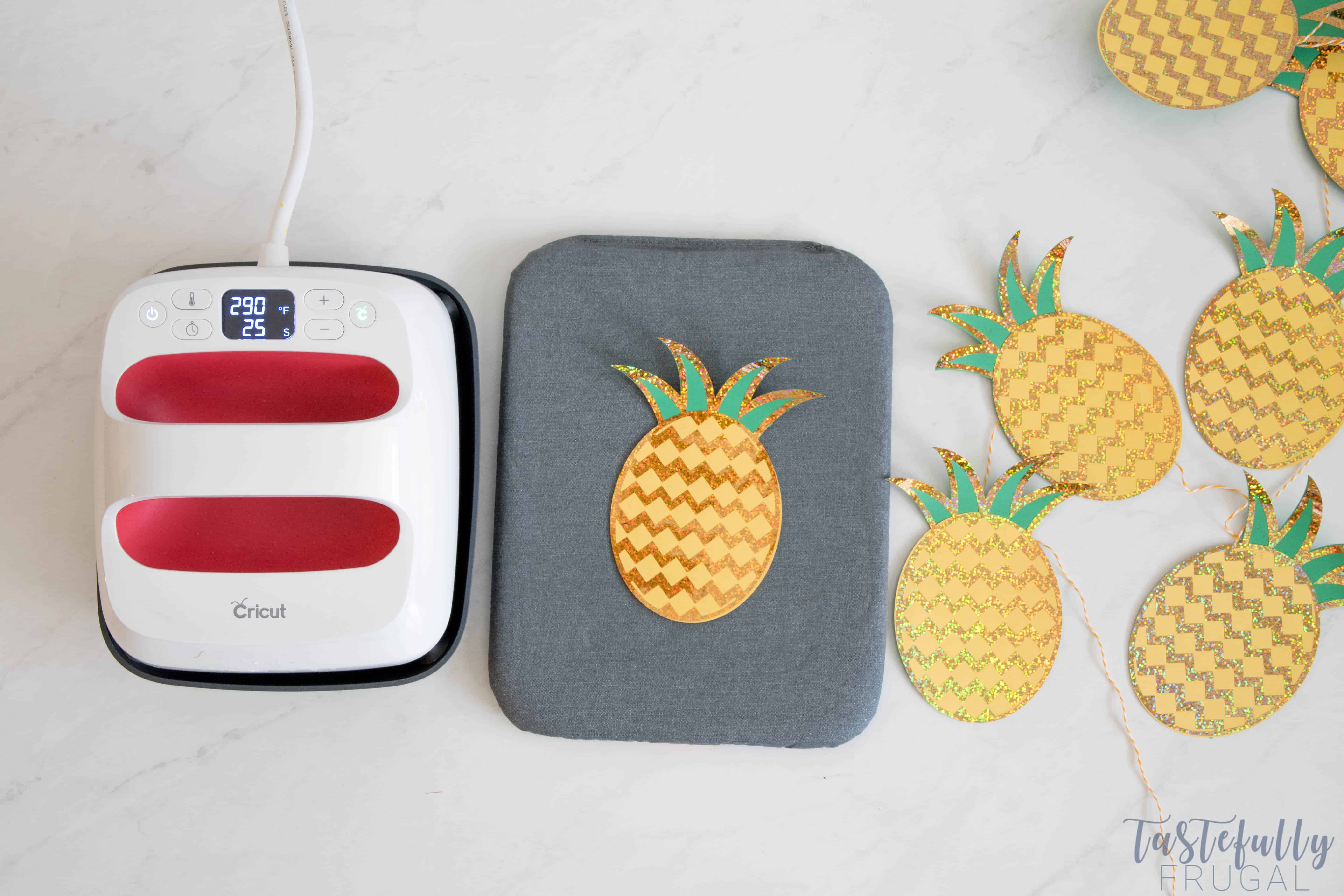 Creating a Pineapple Party with Sparkle is easy with the Cricut Maker #ad #Cricut #CricutMade