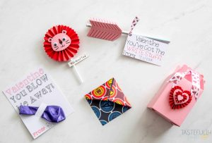 Makes these Valentines quickly and easily with a Cricut Maker. PLUS you can make an entire class' valentines for $2 or less! #ad