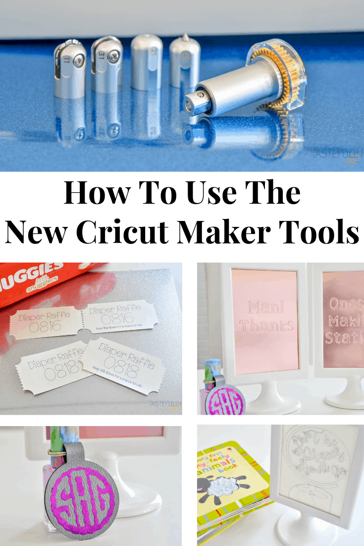 Learn how to use the four newest tools for the Cricut Maker including step by step project tutorials. #ad #cricutcreated