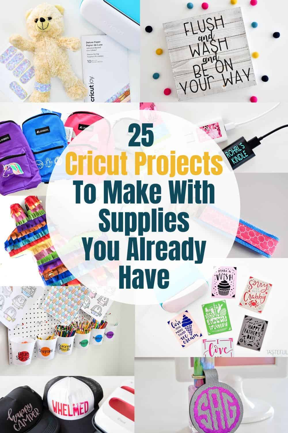 Keep busy while you're at home with lots of Cricut Craft Project Ideas!