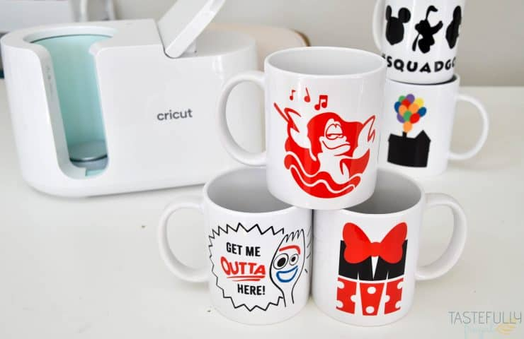 DIY Disney Mugs with Cricut Mug Press